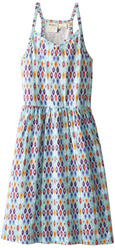 Roxy Big Girls' Multicolor Tribal Print Knit Dress, Sky Blue, X-Large/14