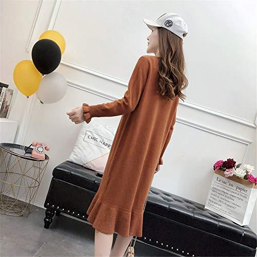 nel Gonna grande magro caramello lunghe lunghe di maniche colore dimagrante maglione Shirloy maglione dimensioni grandi a a maniche RTXqXw