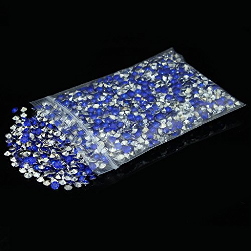 4.5mm pack of 10000pcs Acrylic Crystal Diamond For Vase Fillers, Party Table Scatter, Wedding, Photography, Party Decoration, Crafts DIY Project - royal blue & (Blue And Silver Decorations)