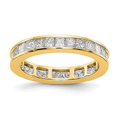 14k Yellow Gold SI2-I1(H/I) Diamond Eternity Wedding Band Ring 2.002 cttw