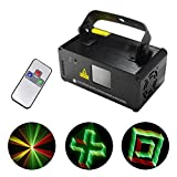 Mini Remote 3D Red Green Yellow Mixing Gobos Effect Color DMX 512 Stage Lighting DJ Dance Party Club Home Show Projector Lights 3D-RGY250