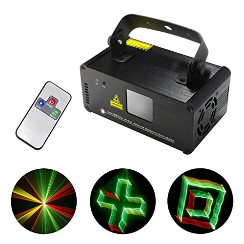 Mini Remote 3D Red Green Yellow Mixing Gobos Effect Color DMX 512 Stage Lighting DJ Dance Party Club Home Show Projector Lights 3D-RGY250 by JE