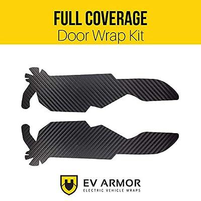 EV Armor Tesla Model 3 Full Coverage Door Handle Vinyl Car Wrap Kit - 4 pcs - Carbon Fiber Black: Automotive