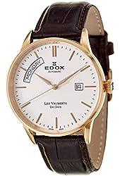 Edox Les Vauberts Day Date Automatic Men's Automatic Watch 83007-37R-AIR