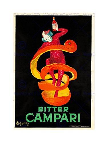advert-bitter-campari-1921-home-deco-black-framed-art-print-picture-b12x6948