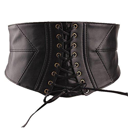 Shengweiao Elastic Wide Waist Belt Tied Corset Cinch Belt (X-Large(36