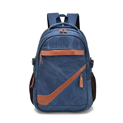 mefly Bolsa de viaje Los hombres & Le Mujeres Lienzo externa Bolsa de viaje elegante bolso de bandolera, Army green Azul marino