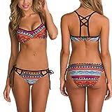 Creazy Sexy Women Bikini Set Swimwear Push-Up Bra Padded Swimsuit Beachwear (L)