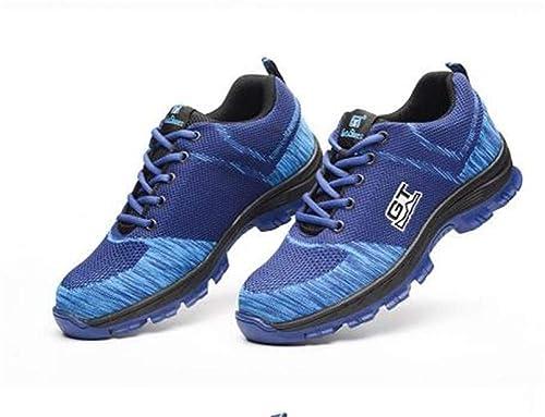 Aizeroth UK Uomo S3 Scarpe da Lavoro Comodissime Traspiranti Scarpe Antinfortunistiche con Punta in Acciaio Stival Calzature da Cantiere Escursionismo