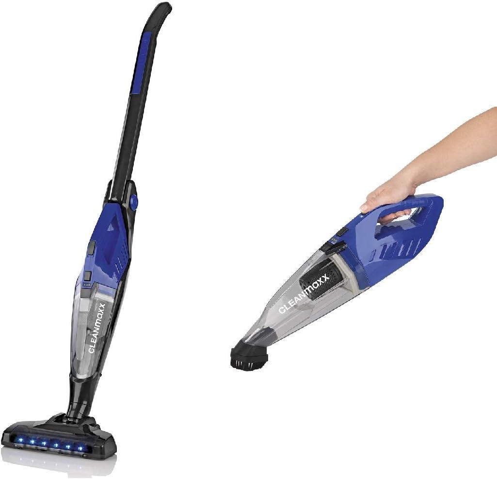 CleanMaxx Akku-Handstaubsauger 100W Negro, Azul: Amazon.es: Hogar