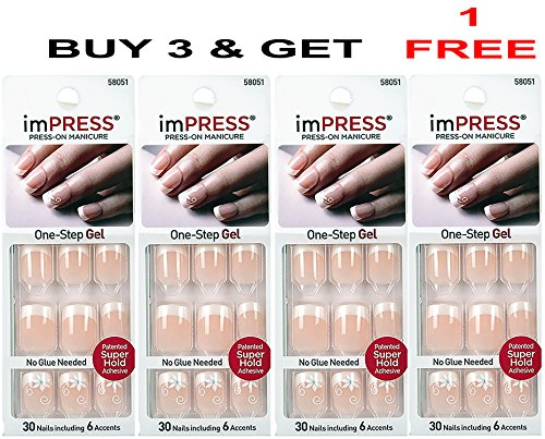 press on french manicure - 5