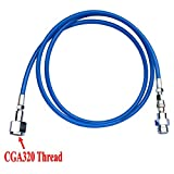 CO2 SodaStream/Soda Club To External W21.8 Tank Direct Adapter And Hose Kit (72'' Blue Hose)