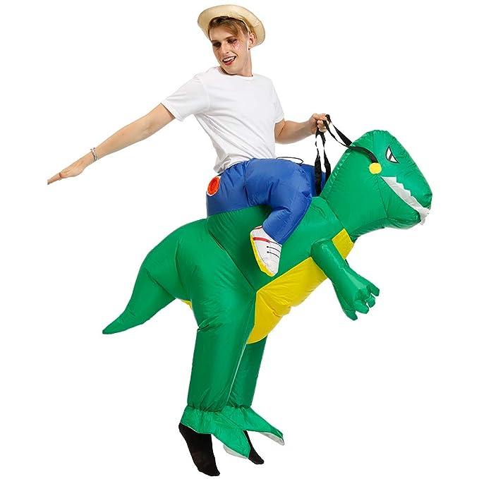 Amazon.com: Disfraz de dinosaurio inflable T-REX para ...