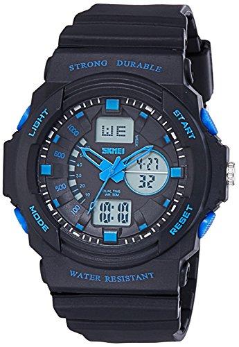 Skmei Analog Digital Multi Colour Dial Unisex Watch   0955BBBL
