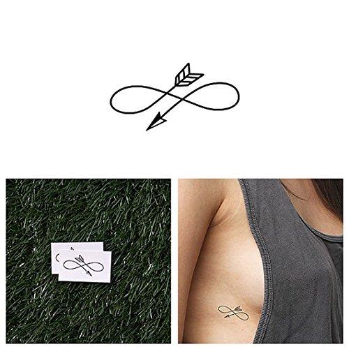 Tattify Arrow Infinity Sign Temporary Tattoo - Right