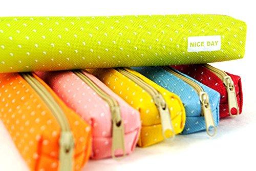Pois Rouge Katara Pour De Bureau Stylos Trousse Étui 1800 École Rose Rangement À Fineliners Crayons q4FOxq7