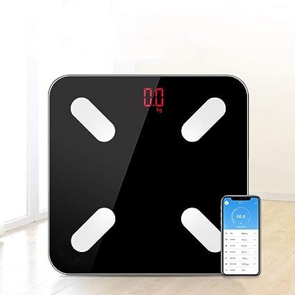Báscula De Grasa Corporal Bluetooth - Balanza BMI Inteligente Balanza De Peso Inalámbrica Para Baño Digital