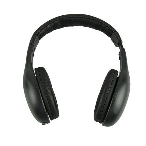 MYQyiyi 5 en 1 Auricular Audio sin Hilos Hi-Fi FM Radio TV MP3 MP4