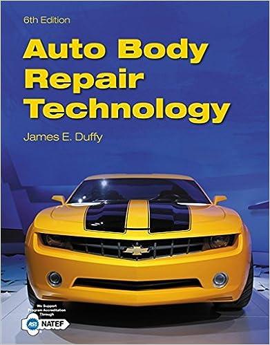 Auto body repair technology james e duffy 9781133702856 amazon auto body repair technology 6th edition fandeluxe Choice Image