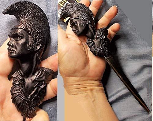 1 Lava Cameo Steel Letter Opener Hand Carved L, EXECUTIVE DESK GIFT, Pele Fire Goddess, Unique