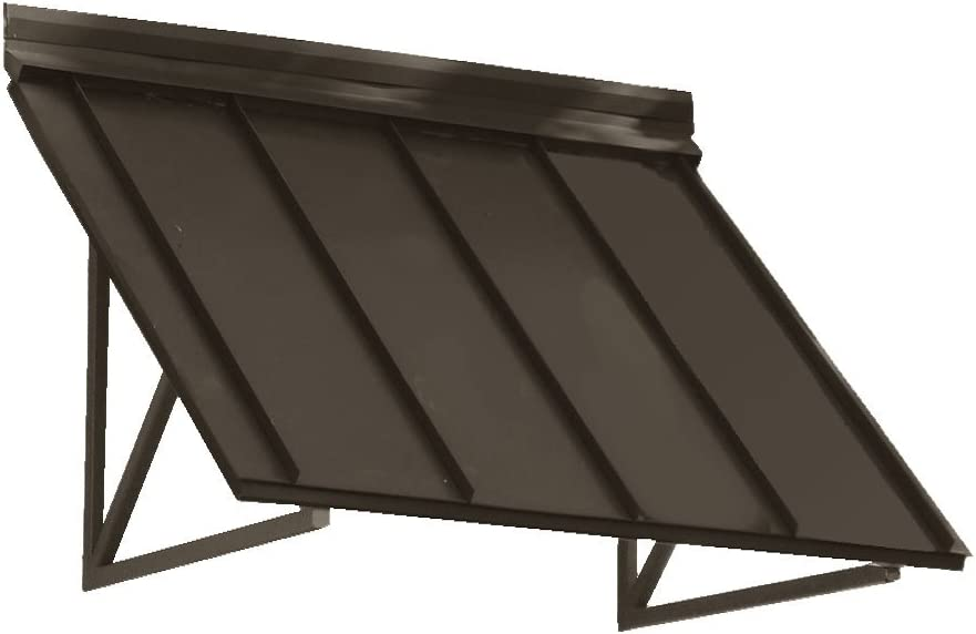 4 ft. Houstonian Metal Standing Seam Awning (56 in. W x 24 in. H x 24 in. D) Bronze