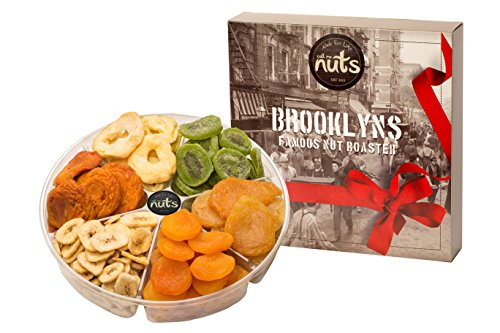 Holiday Pear - Call Me Nuts- Gourmet Dried Fruits Gift Tray (2 lb) Delicious and Kosher Dried Kiwi, Banana Chips, Apricot Turkish, Apple Rings, Pears California, Peaches California Perfect for Holiday Parties