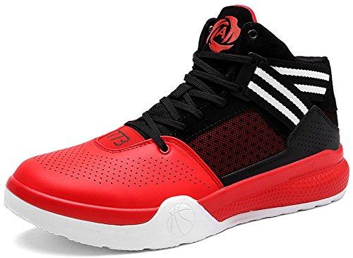 Jiye Lichtgewicht Basketbalschoenen Voor Dames Dames Sport Running Sneakers Zwart Rood