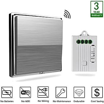 thinkbee wireless light switch kit no battery no wiring no wifi rh amazon com