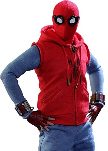Spider Man Homecoming Red Hoodie Vest]()