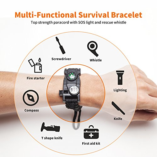 Ez Turbo Survival Bracelet 20 In 1 Survival Paracord Bracelet