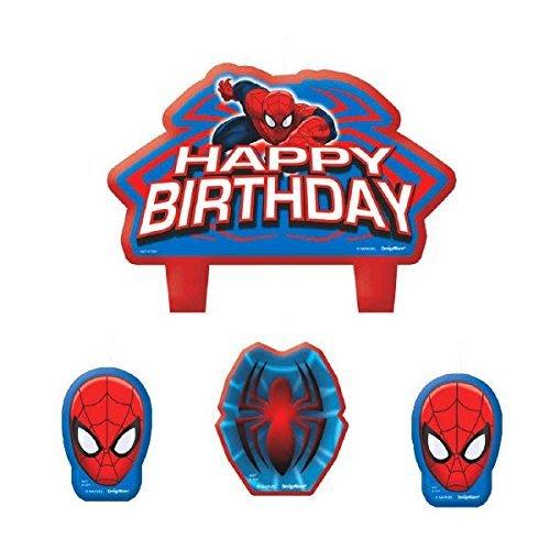 American Greetings 171355-55, Candeline con Spiderman, 4 ...