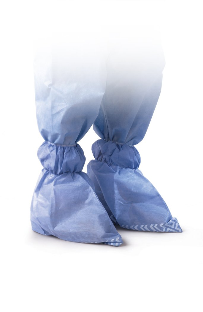 Medline NON27145XL Non-Skid Multi-Layer Ankle Covers, Latex Free, Extra Large, Blue (Pack of 300)