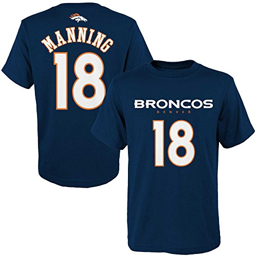 Peyton Manning #18 Denver Broncos NFL Youth Primary Player T-shirt (Youth Small 8) (Miller Primary Collection)