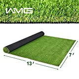 WMG Premium Artificial Grass, Outdoor Drainage Mat, 7' x 13' Artificial Turf