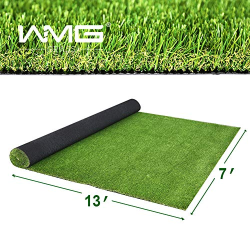 WMG Premium Artificial Grass, Outdoor Drainage Mat, 7' x 13' Artificial Turf for Dogs, Pet Turf Synthetic Grass Outdoor Rubber Mat, 1 Pack