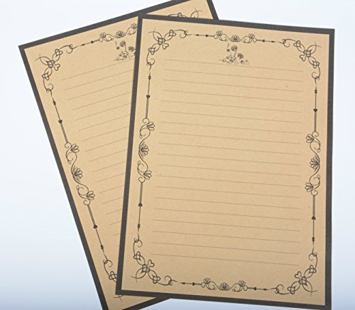 IMagicoo 64 Vintage Retro Cute Design Writing Stationery Paper Pad Letter Set (khaki-2) Photo #6