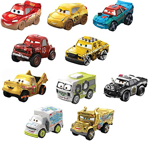 Mattel Disney Pixar Cars Mini Racers Derby Racers Series 10 Pack