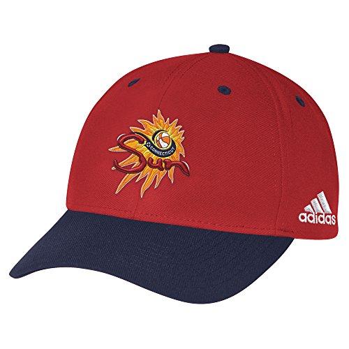 (WNBA Connecticut Sun Men's Structured Adjustable Cap, One Size, Orange)