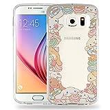 Galaxy S6 Case Cinnamoroll Cute Border Clear Jelly Cover for [ Samsung Galaxy S6 ] Case - Border Cinnamoroll