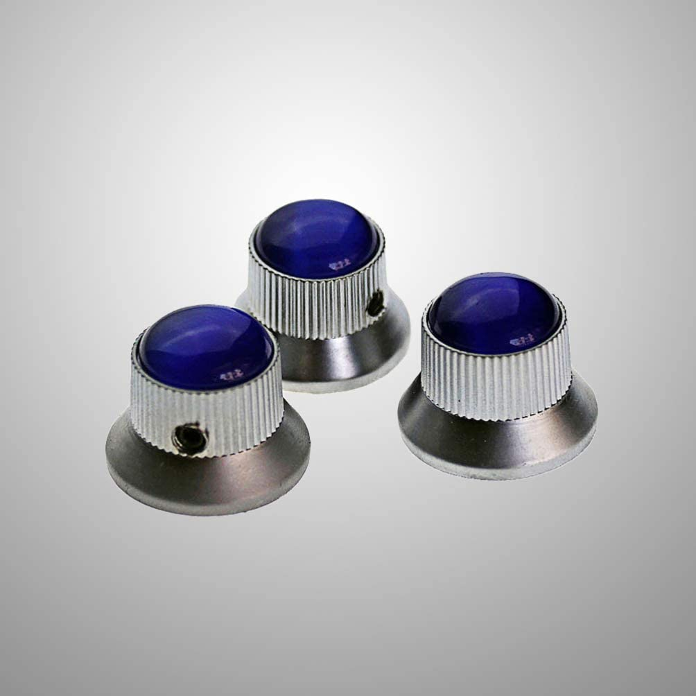 HEALLILY Guitar Volume Control Knobs 3 PCS Metal Tone Control Knobs for Electric Guitar Bass Accessories