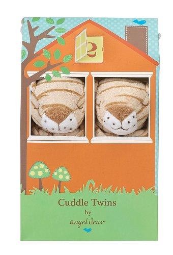 Angel Dear Cuddle Twin Set, Brown Tiger Stripe Angel Dear Tiger