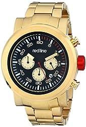red line Men's RL-50050-YG-11 Torque Sport Analog Display Japanese Quartz Gold Watch