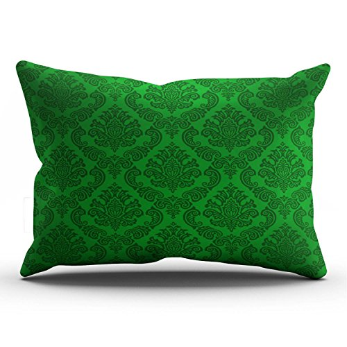 Kelly Green Trees (Boitty Pillow Case Baroque Vintage Damask Emerald Green Pillowcases Personalized Decorative Soft Throw Pillow Covers Cases King 20x36 Inches One Side)
