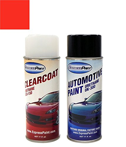 ExpressPaint Aerosol Ford Mustang Automotive Touch-up Paint - Poppy Red 3 (1965) - Color + Clearcoat Package