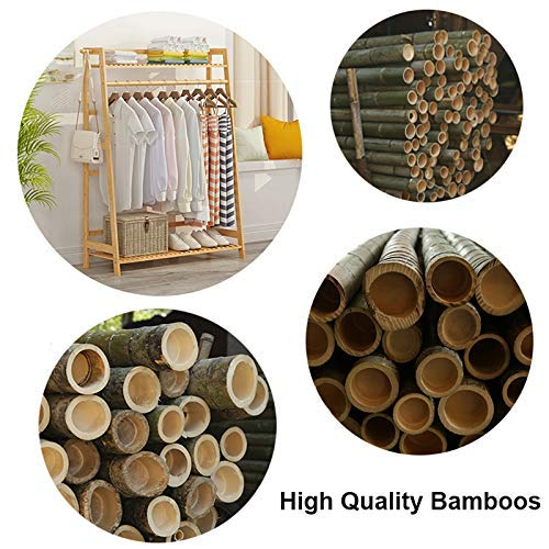 Amazon.com: Xjyj - Perchero de madera de bambú para colgar ...