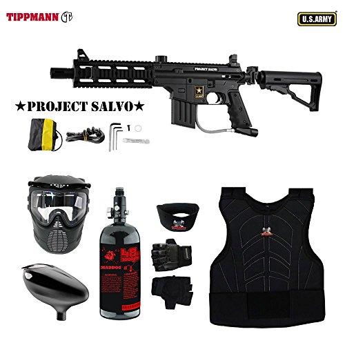 Rail Sight 98 Custom Adjustable (MAddog Tippmann U.S. Army Project Salvo Tactical Beginner Protective HPA Paintball Gun Package - Black)