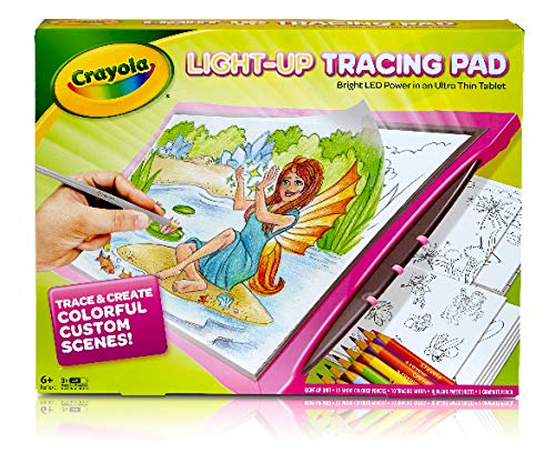 Crayola Light Up Tracing Pad - ROSA - ALIMENTACIÓN LED BRILLANTE en una tableta ultra delgada