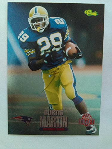 Curtis Martin (Football Card) 1995 Classic NFL Draft Silver #84 - Hall of Famer New York Jets / New England Patriots ()