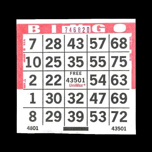 独創的 1 onレッドUnimax Bingoペーパーゲームカード USA 1 – 4インチスクエアサイズ onレッドUnimax – 500使い捨てカード1パック – 重複なしシート – Made in USA B01NC2YHE7, 街の雑貨屋さん:f53d94d3 --- arianechie.dominiotemporario.com