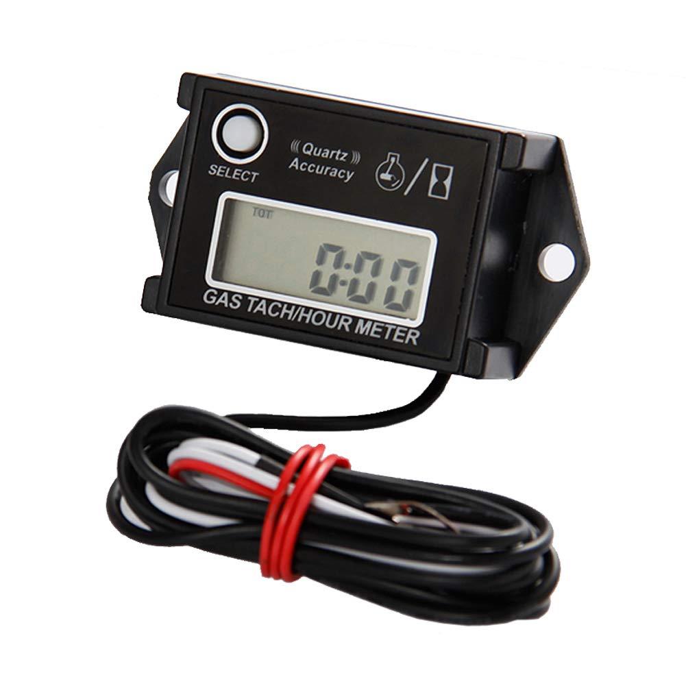 Digital Hour Tachometer RPM Counter for Snowmobile Skis Motor Bike Go Kart Lawn Mower Found-own RL-HM026